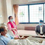 गृहमन्त्रीद्वारा महासचिव वैद्यको स्वास्थ्यावस्थाबारे जानकारी